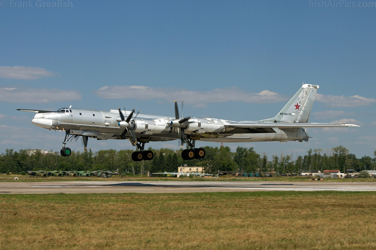 Russian Air Force Tupolev Tu-95 Bear - Typical trade for NATO intercepts