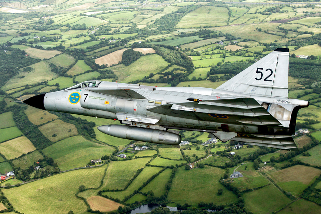 SwAFHF Viggen SE-DXN, over County Clare, Ireland, in July 2015