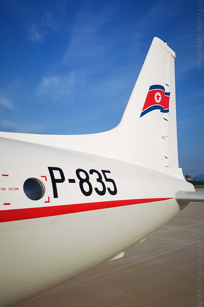 Air Koryo Ilyushin Il-18D P-835 on the ground after a pleasure ride