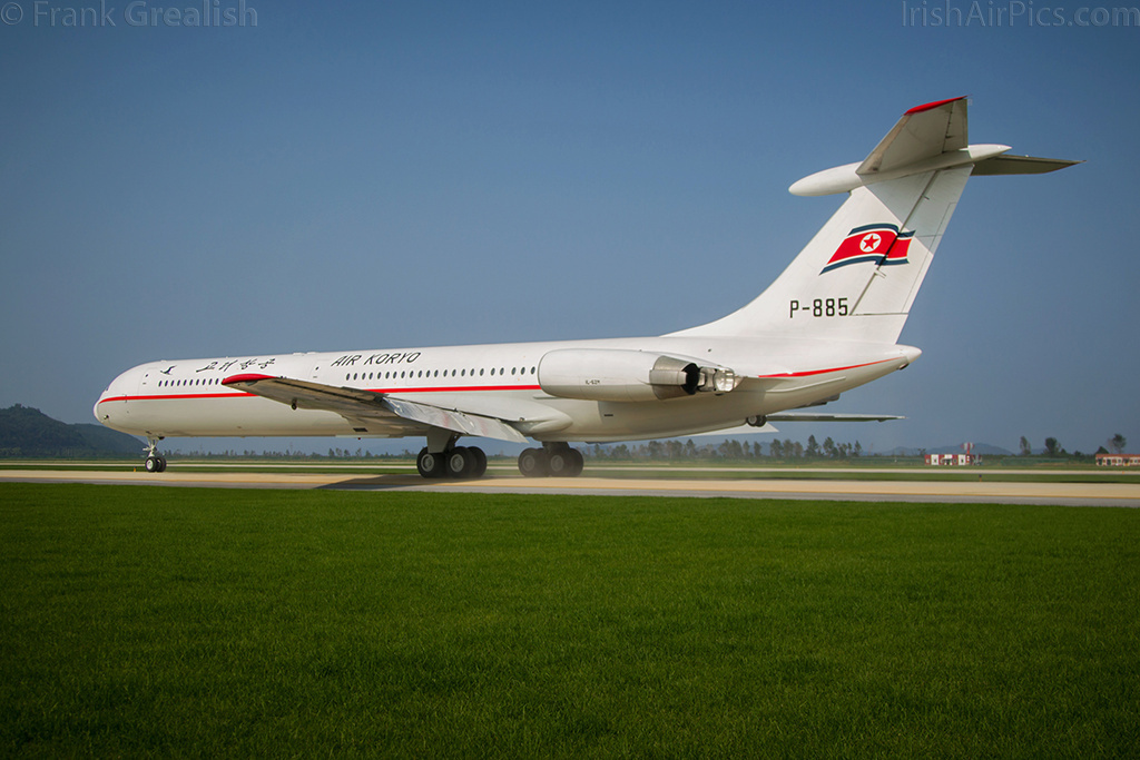 Air Koryo Ilyushin Il-62M P-885 taxys out for its flying display