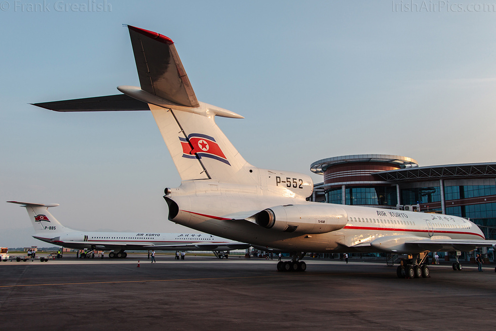 Air Koryo Tupolev Tu-154B P-552 with Ilyushin Il-62M P-885 in the background