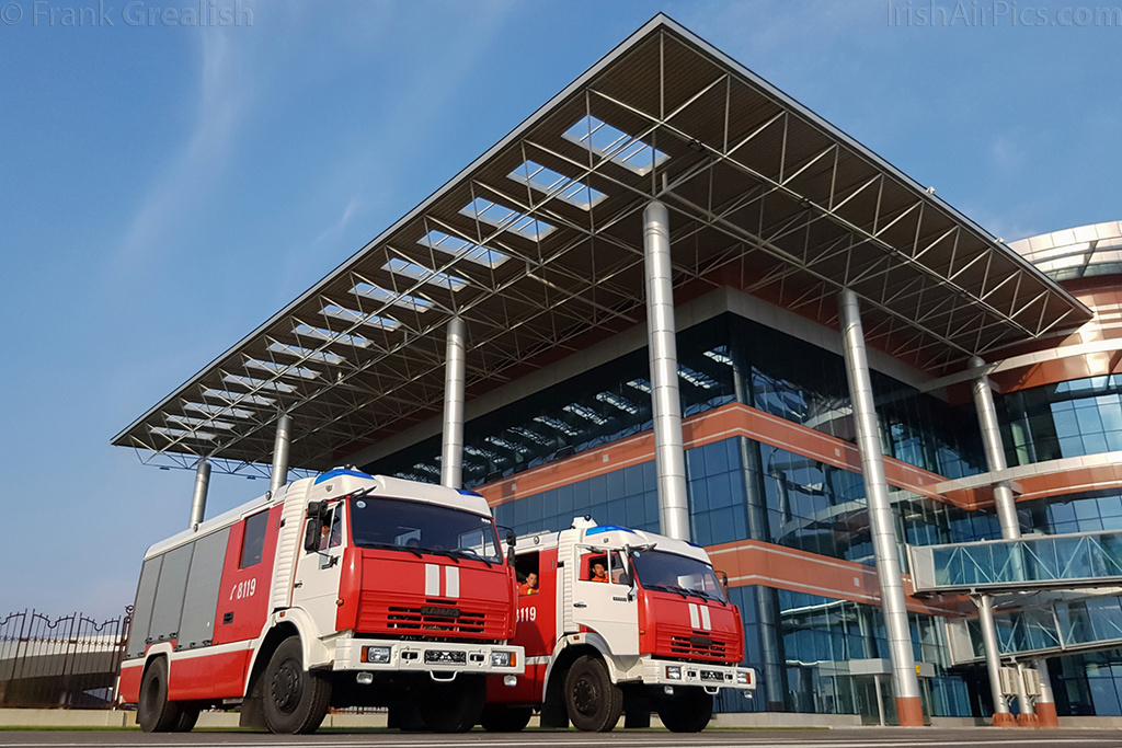 Fire and rescue tenders at Kalma Airport
