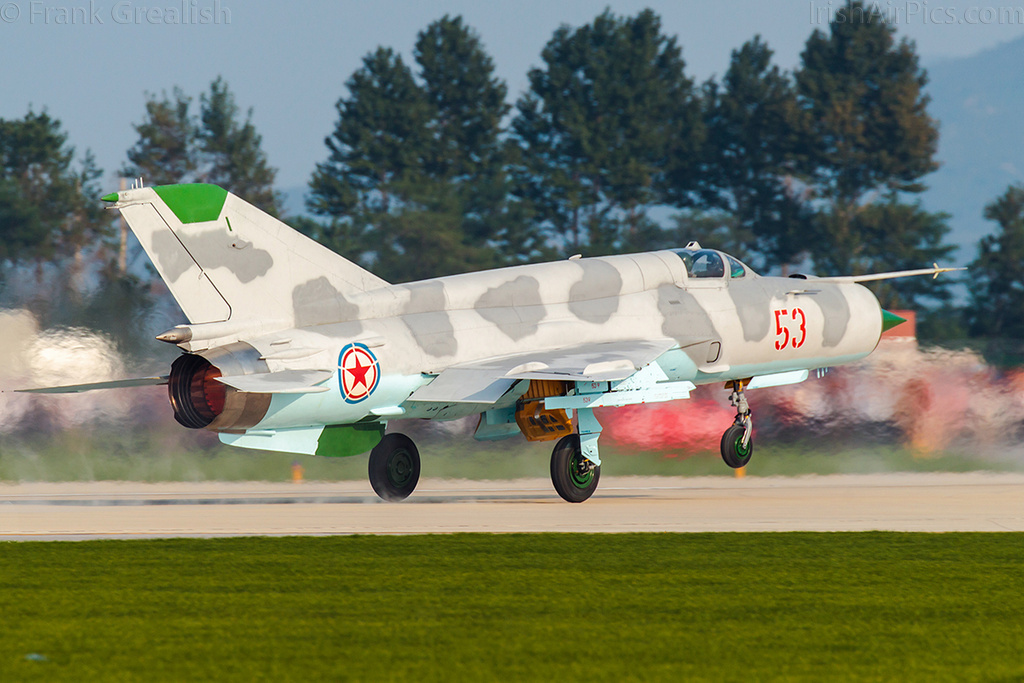 KPAAF Mikoyan-Gurevich MiG-21 takes off for its display