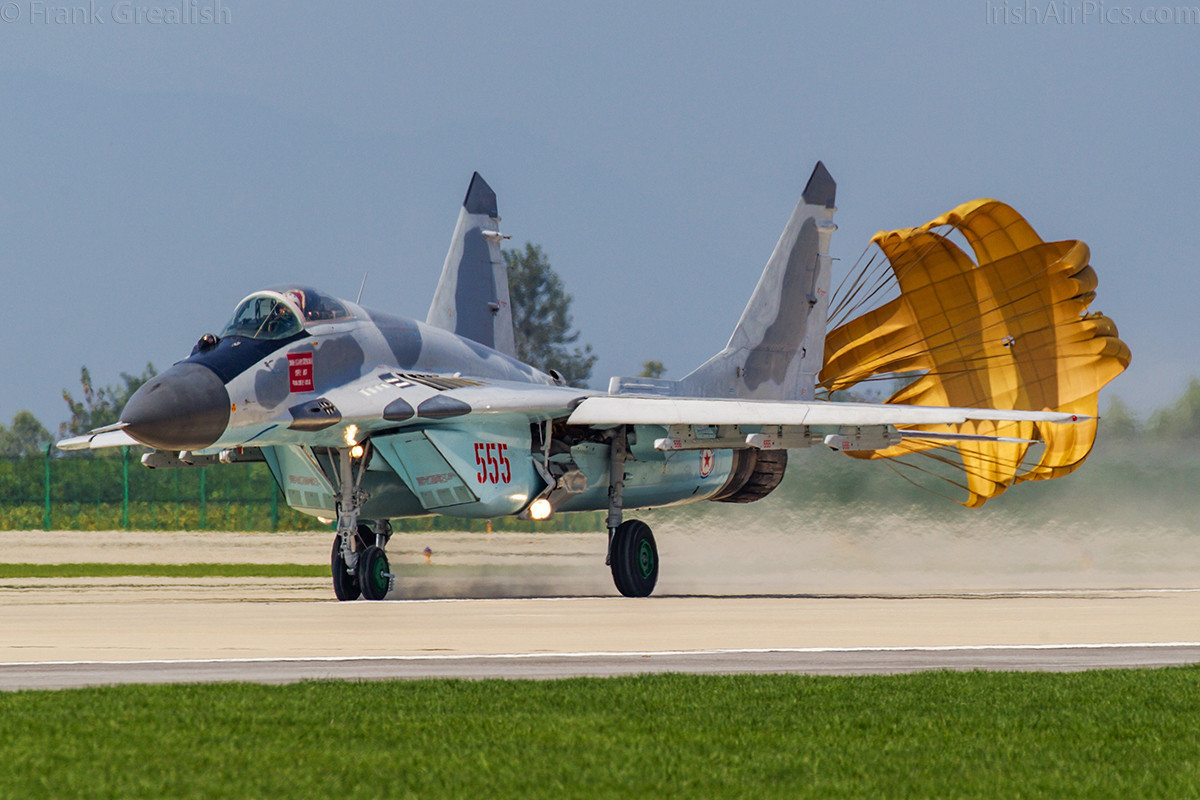 Highlight of the morning flying display, a KPAAF MiG-29