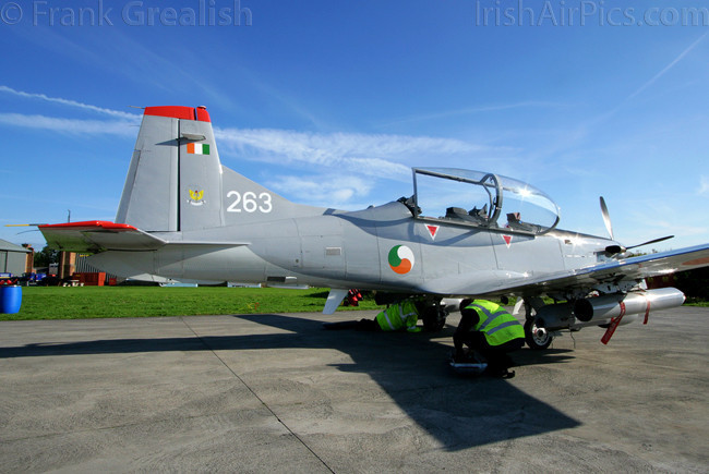 Irish Air Corps Pilatus PC-9M Air Firing 2008