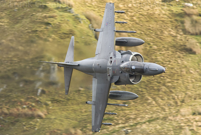 Mach Loop, Wales - Harrier GR9 goes through Cad West