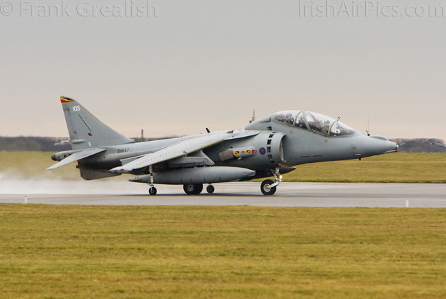 RAF Cottesmore - Harrier T12 ZH657, weather check aircraft, taxis out